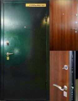 Дверь с порошковым покрытием с ЛДСП замок чиза