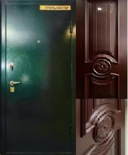 дверь с крашеной МДФ