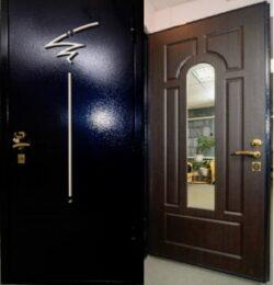 дверь с декоративной накладкой