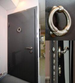 дверь парадная с МДФ и отбойником